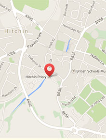 Map of Hitchin Priory